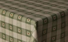 Green Daisy Check PVC Packaged Tablecloths