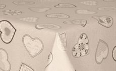 Love Hearts Grey PVC Packaged Tablecloths