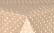 Little Stars On Beige PVC Tablecloths