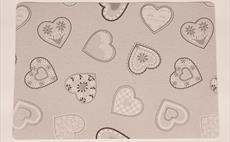 Lovehearts Grey Place Mat