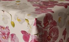 Orchid PVC Tablecloth 160cm Round