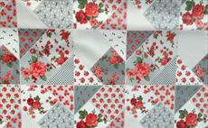 Patchwork Rose Grey