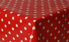 Polka Red PVC Tablecloths