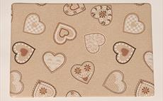 Lovehearts Beige Place Mat
