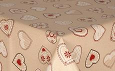 Love Hearts Red PVC Tablecloth 160cm Round